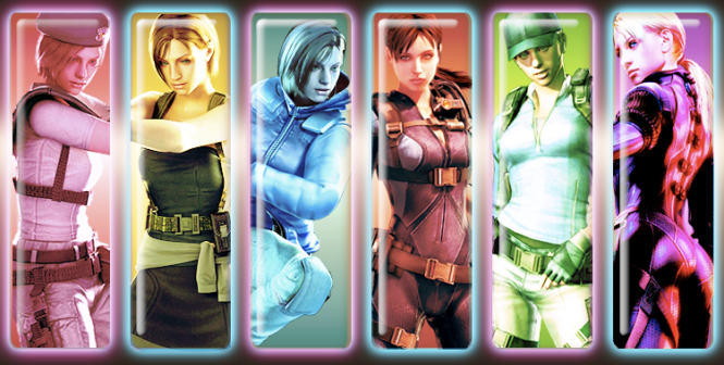 Jill Valentine All Faces